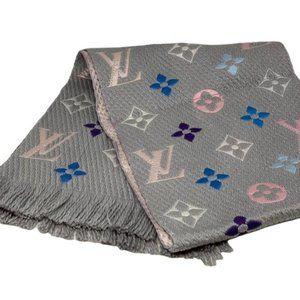 Louis Vuitton Rainbow Logomania Scarf Wool New